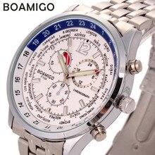 Relojes Hombre 2016 BOAMIGO Relojes hombres cuarzo de japón movimiento completo acero inoxidable negocios reloj para Hombre del reloj Montre Homme
