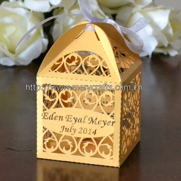 Elegant Luxury Wedding Thank You Gifts Box For Guests With Free Ribbon