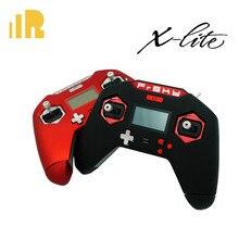 Transmissor de rádio frsky taranis x lite, transmissor de rádio de 2.4ghz vermelho/preto, desenho legal para fpv drones com saco de eva
