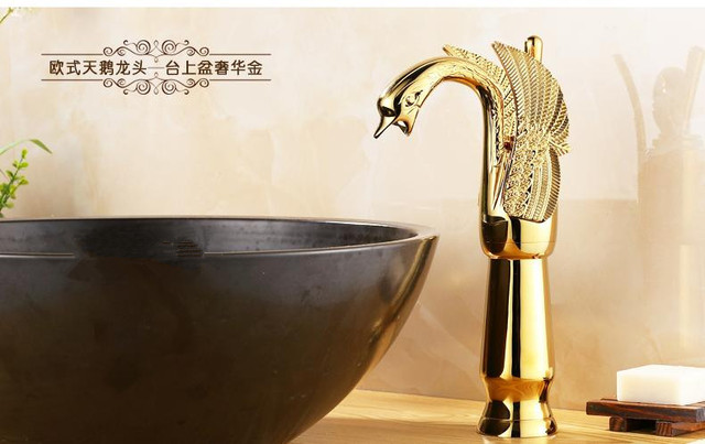 New Arrival Silver Gold Bronze Etc Finish High Quality Bathroom Single Lever Bird Design