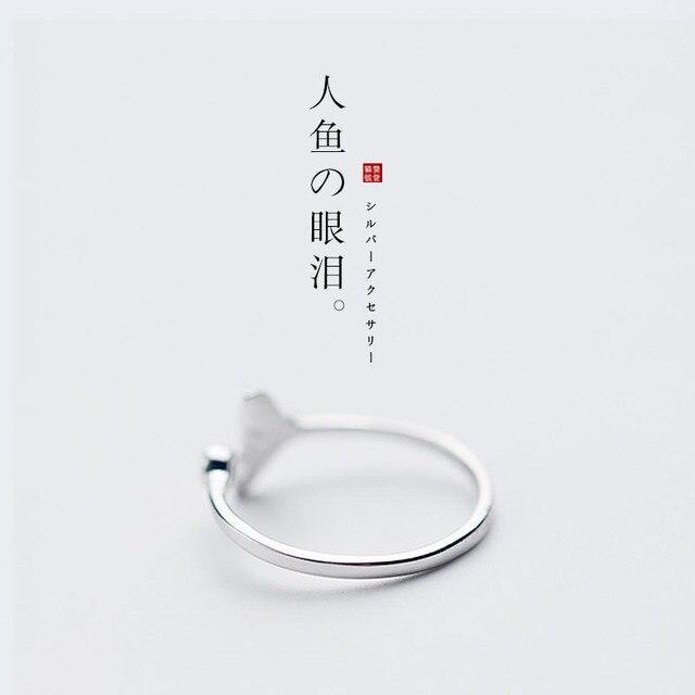 Ogon wieloryba posrebrzany pierścionek moda kobiety syrenka ogon pierścienie dla dziewczynek Sterling srebrny syrenka rozdarcie biżuteria Femme hurtownie