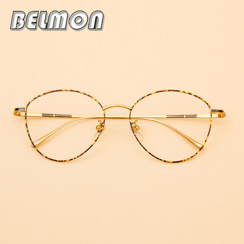 Pure Titanium Spectacle Frame Women Vintage Eyeglasses Men Computer Optical Glasses For Literary Female Retro Clear