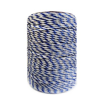 Electric Fence Poly Wire White Blue Poly wire with Steel Wire Poly Rope For Horse Fencing Ultra Low Resistance Hot Wire Fencing фото