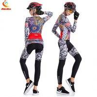 Femmes de vélo jersey à manches longues en plein air sport cyclisme clothing ropa ciclismo silicon gel paded de d'été à vélo de sport