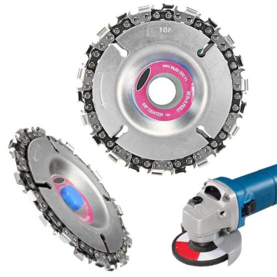 4 5 Inch 22 14 Tooth Diameter Grinder Disc Fine Chain Saw Angle Carving Culpting Wood Plastics For 100-125 Angle Grinder