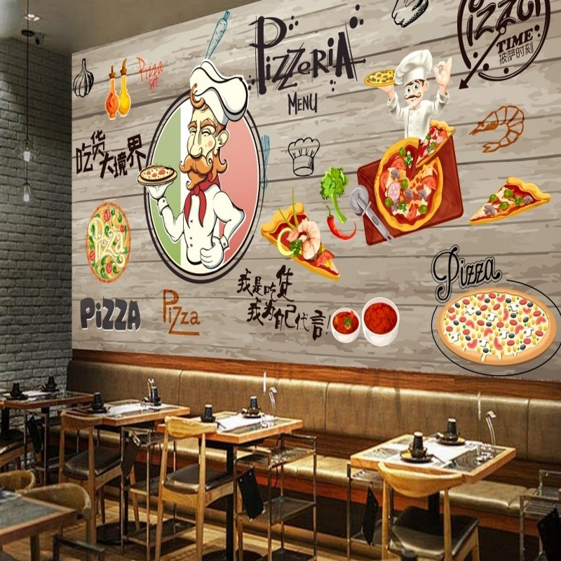 Online buy wholesale pizza restaurant decor from china for Shop decoration items