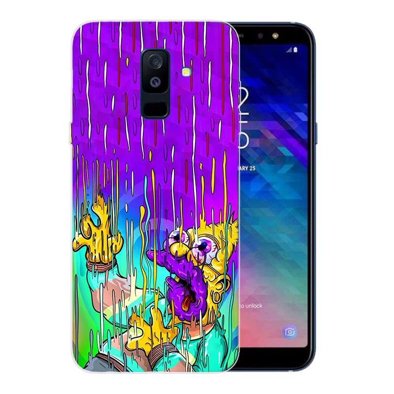 FGHGF Homer J Simpson Print Soft TPU Back Case For Samsung Galaxy A6 A8 Plus A5 A7 A9 Star 2018 A3 2017 A6S A8S Cover in Fitted Cases from Cellphones Telecommunications