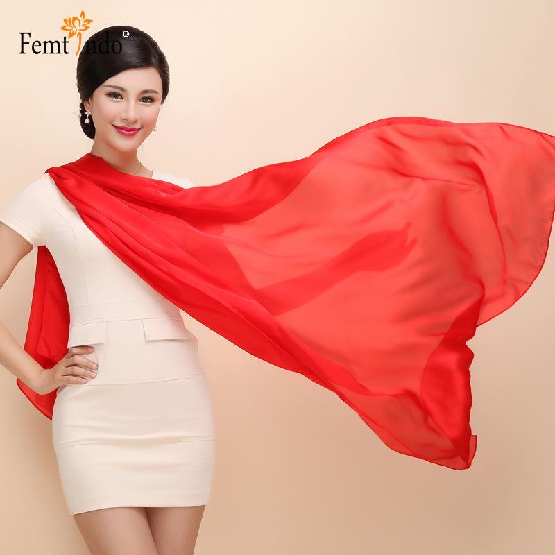 Ladies long large Scarf Pure Silk Bandanas Echarpe Fashion Ss