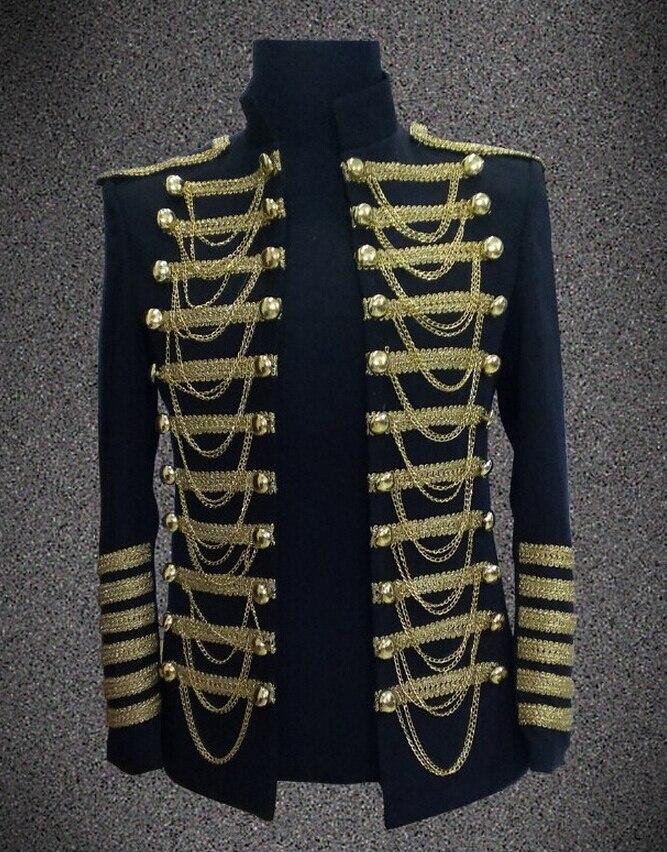 8b2b5916ba7e9 الرجال زائد حجم سترة تظهر زي الملابس ساحة عرض أزياء السترات الرجال معطف  ضئيلة ارتداءها الذهب السترة المرحلة المعرض دعوى