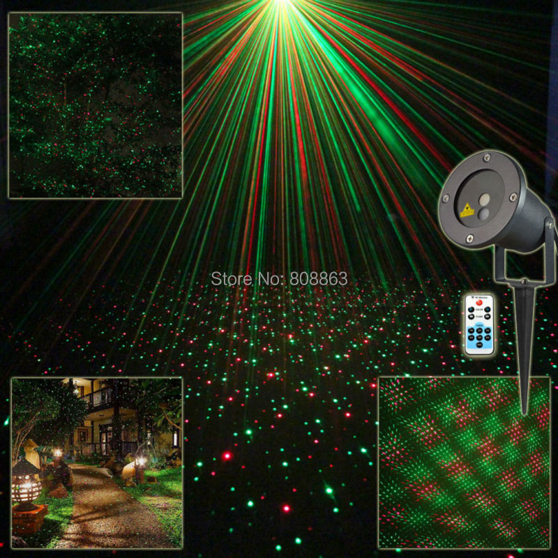 R&G Outdoor Waterproof Remote Full Stars Laser Projector Indoor Holiday Home Xmas Tree Wall Lighting Garden Landscape Light T79