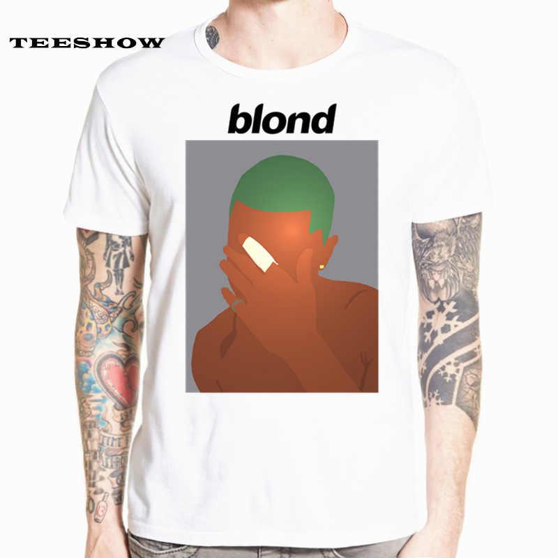 Frank Ocean T-shirt blond col rond manches courtes été unisexe oversize hommes et femmes T-shirt HCP4544
