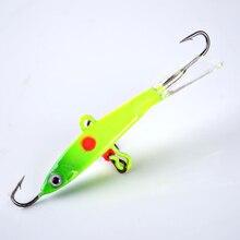 FISH KING 1PC 7G 9G 12G 13G Wobbler With Hooks Winter Fishing Jig Head Jigging Lure Ice Fishing Bait Fishing Tackle 3D Eyes