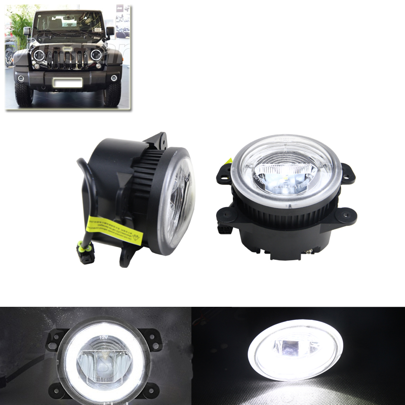 Ultra Bright Led Guide Daytime Running DRL Fog Lights Direct Fit For Dodge Charger Journey For Jeep Wrangler Grand Cherokee