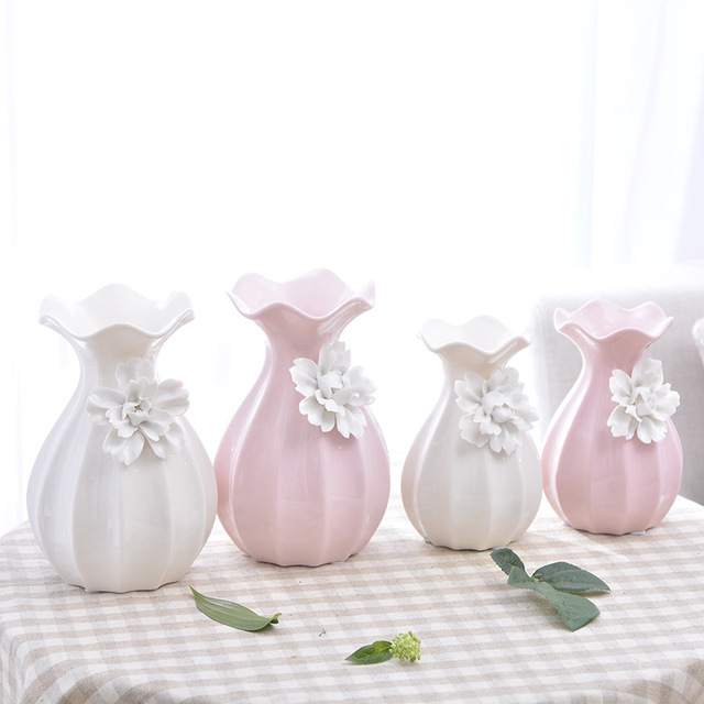Continental Retro Decor Handmade Ceramic Vase Ornaments Pinch Flower