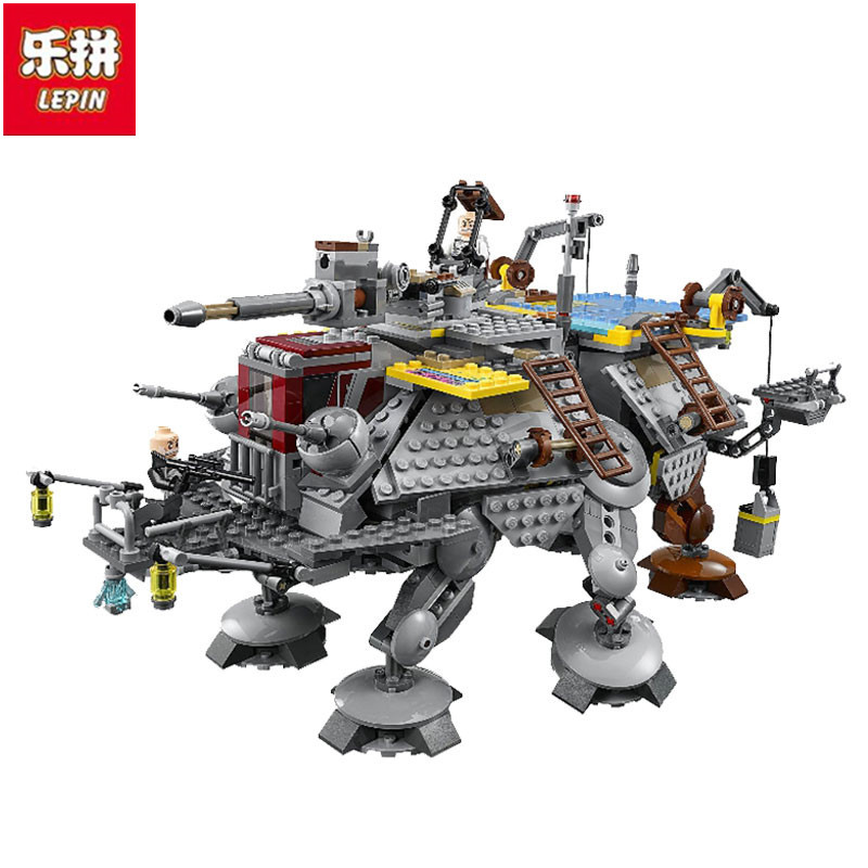Lepin IN STOCK Free shipping 1022Pcs 2016 New LEPIN 05032 StarWars Captain Rex's AT-TE Building Blocks Brick Toy кожаный кошелек