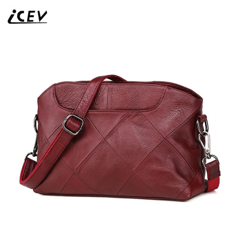 ICEV New European Fashion Shell Women Leather Handbag 100% Genuine Leather Bags Handbags Women Famous Brands Women Messenger Bag книги эксмо почувствуй опасность