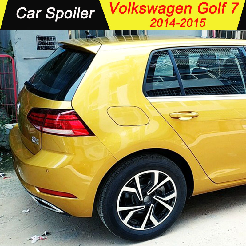 For Volkswagen GOLF 7 Mk7 VII 2014 2015 High Quality Abs Plastic Tail Wing Decoration Rear Trunk Spoiler For Golf 7 Mk7 VII