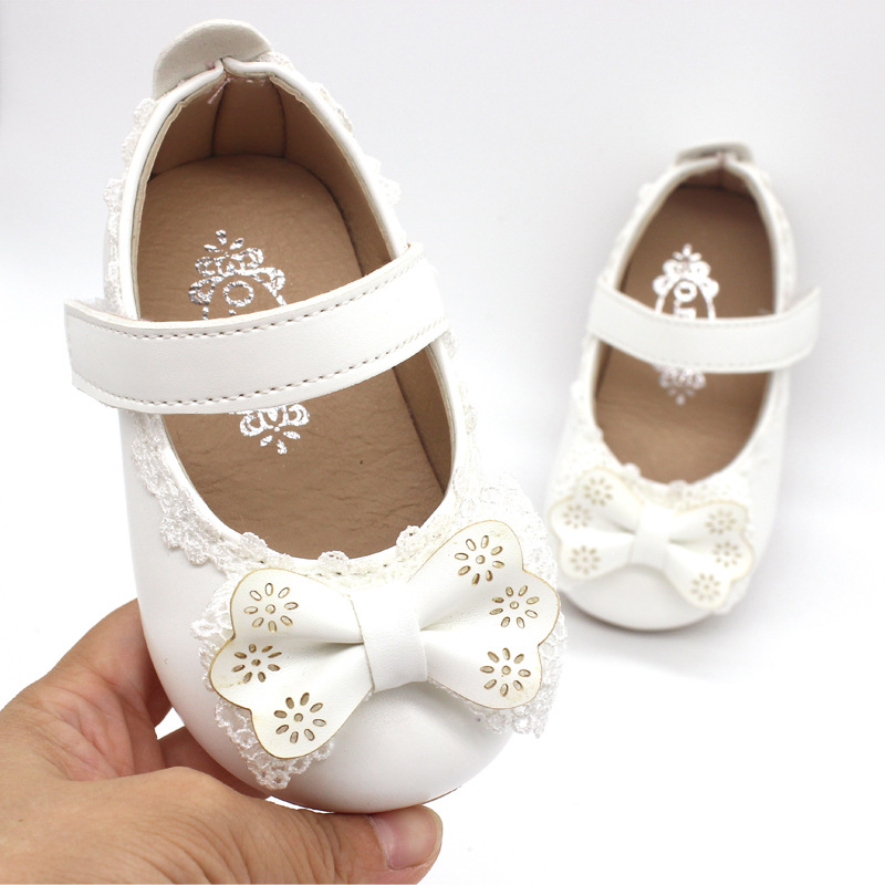 Baby Girls Spring Princess Lace Bowtie Casual Shoes Fashion Baby Kids Flat Shoes Children Soft Sole Slip on Shoes Size 21 30 in Sneakers from Mother Kids