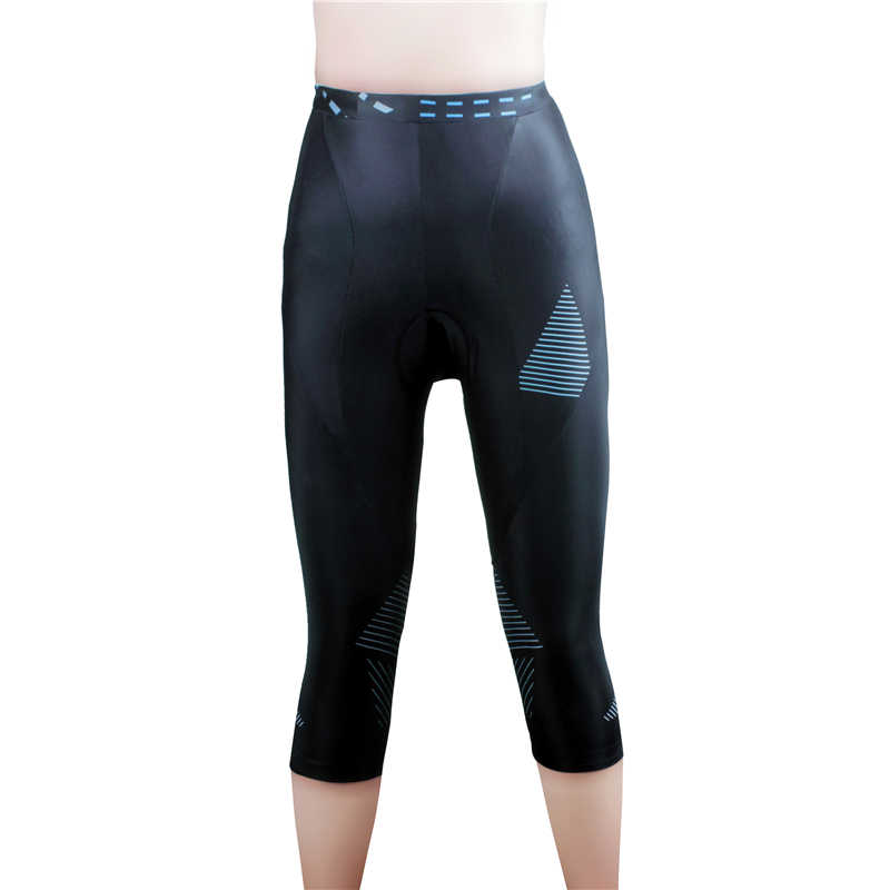 WOSAWE Womens Cycling Tights Breathable Bicycle Long Trousers Quick Dry 3//4 Bike Capris with 3D Gel Pad