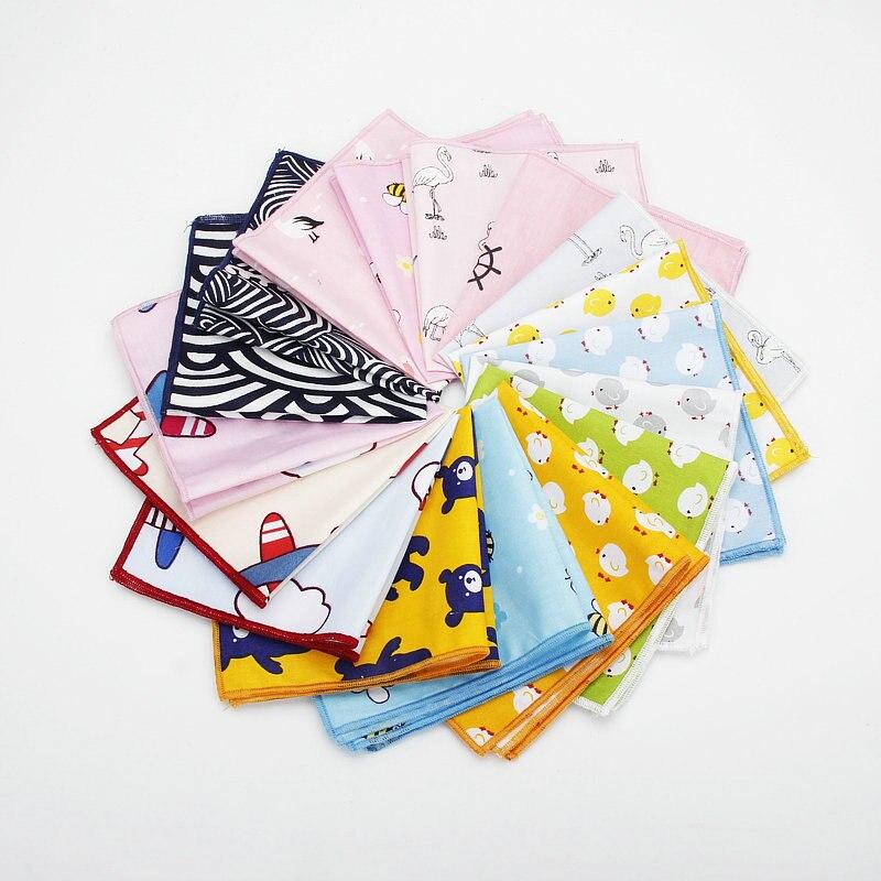 25*25cm Brand New Men's 100% Cotton Animals Handkerchief For Man Fish Bear Print Pocket Square Chest Towel Suits Hankies