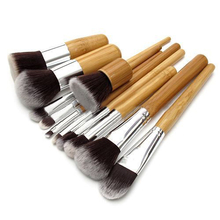 Popular 11Pcs/set  Professional Wood Handle Makeup Make Up Cosmetic Eyeshadow Foundation Concealer Brushes Set  Tools 5IDQ