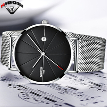 NIBOSI Watch Men Black Quartz Wristwatches Stainless Steel Mesh Brand  Watches Men Ultra Thin Quartz Relogio Masculino Dourado все цены
