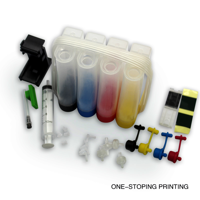 Universal 4 color ciss kit mit mithelfer tintenbehälter für hp650 662 701...