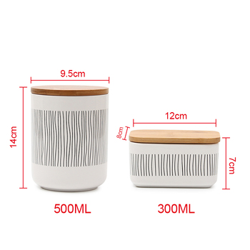 1Pc Ceramic Food Bottle Jar Containers with Airtight Seal Lid for Sugar Coffee Tea TB Sale 6