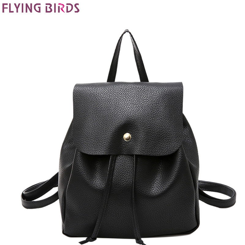 FLYING BIRDS mini women backpack Mochila leather backpacks teenage girls school bags female travel bag high quality designer bag