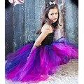 Ropa de las muchachas Salvaje Reina Vestido Tutú Outfit Apoyo de la Foto Del Traje de Halloween de Cumpleaños Niñas Vestido de Cosplay PT314