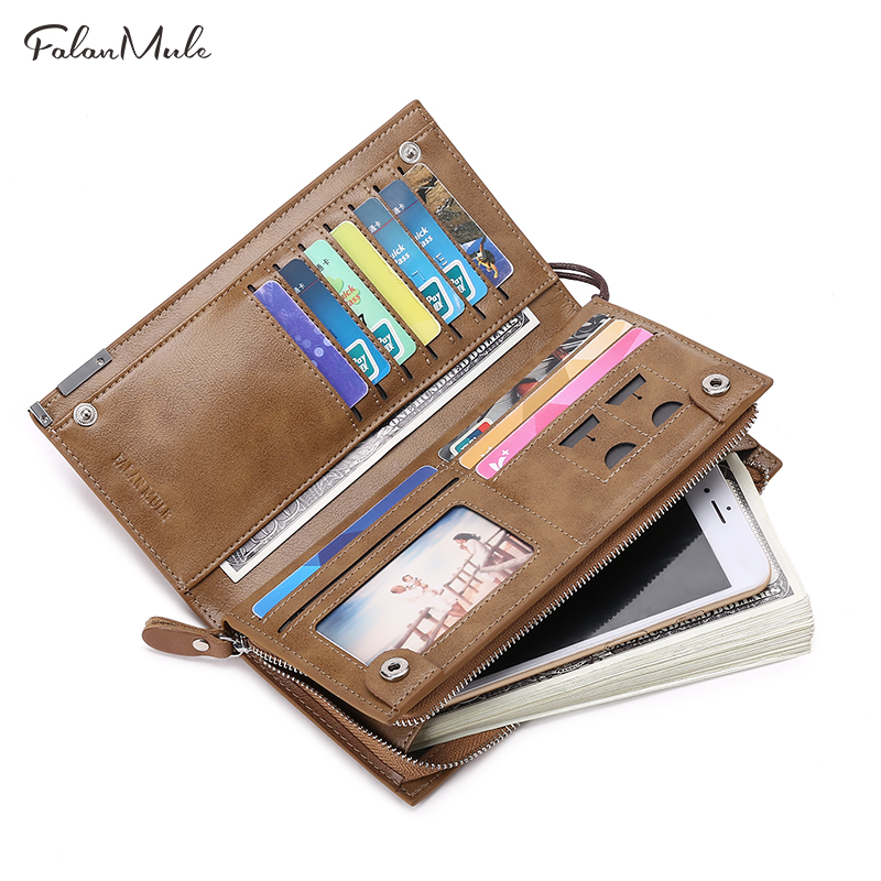 Fashion Luxury Purse  Men Wallets Long Men Purse Wallet Male Clutch Genuine Leather Wallet Men Business Male Wallet Coin Purse genuine leather men business wallets coin purse phone clutch long organizer male wallet multifunction large capacity money bag