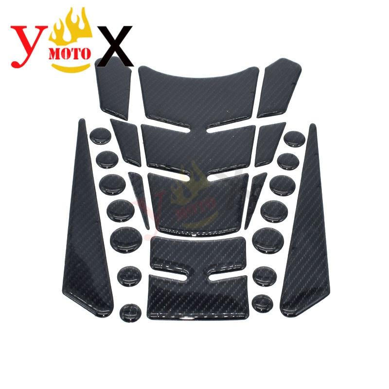 Motorcycle Fuel Tank Sticker Decal Pad Protector Carbon Fiber For Yamaha FZR250 FZR600R YZF R1 R3 R4 R6 R7 MT03 MT07 MT09 FZ09