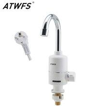 Atwfs электрический проточный водонагреватель мгновенных горячей воды кран мгновенный электрический кран воды отопления 3000 Вт ес plug