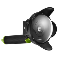 Portable Xiaomiyi Underwater Photography Lens Housing Floaty Monopod Accesories Diving Dome Port For Xiaomi Yi Action