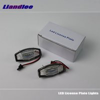 Liandlee For Honda Elysion / Element / Integra / Pilot / LED Car License Plate Light Number Frame Lamp High Quality LED Lights
