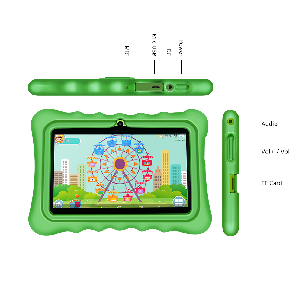 New arrival Yuntab 7 inch touch screen Android4 4 tablet PC load Iwawa kid software with