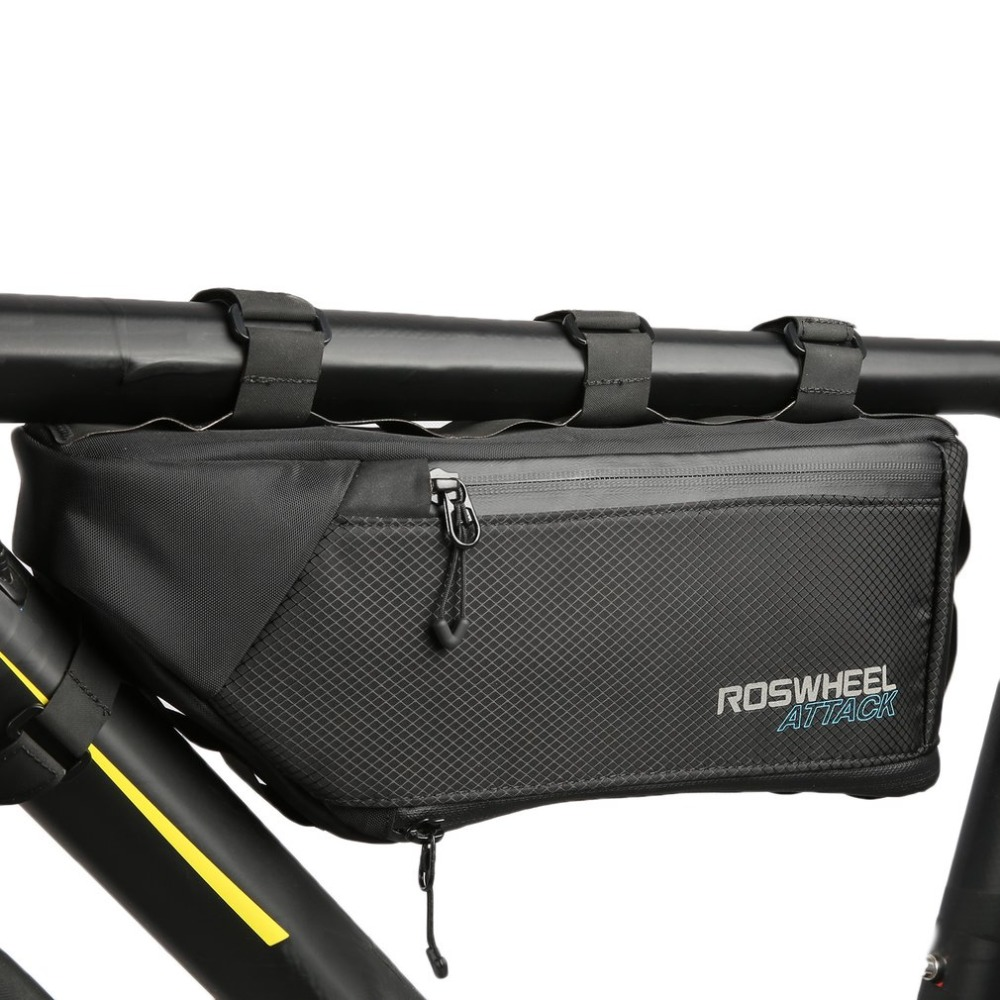 ROSWHEEL 4L Bicycle Bag Top Front Frame Tube Triangle Bag 100% Waterproof Outdoor Bike Pouch Accessory Bicycle Saddle bags цена
