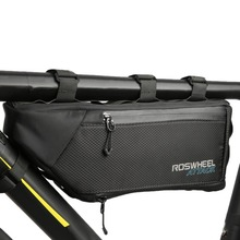 ROSWHEEL 4L Bicycle Bag Top Front Frame Tube Triangle Bag 100% Waterproof Outdoor Bike Pouch Accessory Bicycle Saddle bags