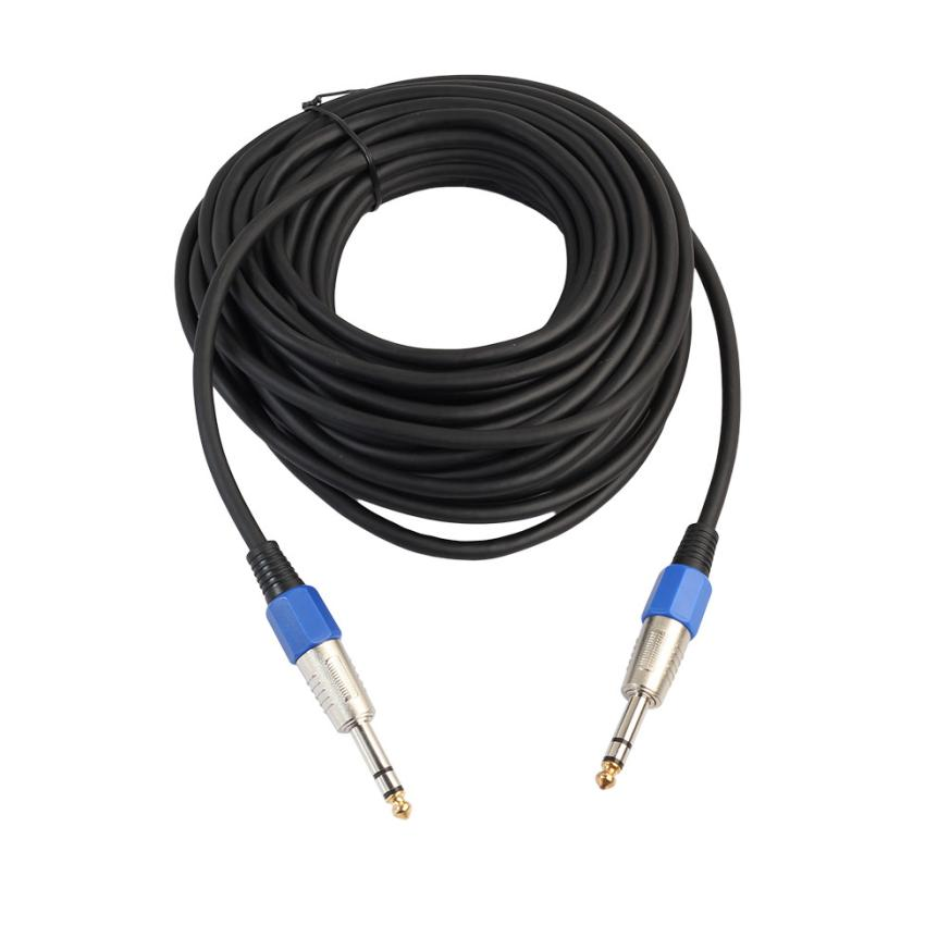 hot selling male to male audio cable adapter for electric guitar mixer mono stereo via. Black Bedroom Furniture Sets. Home Design Ideas