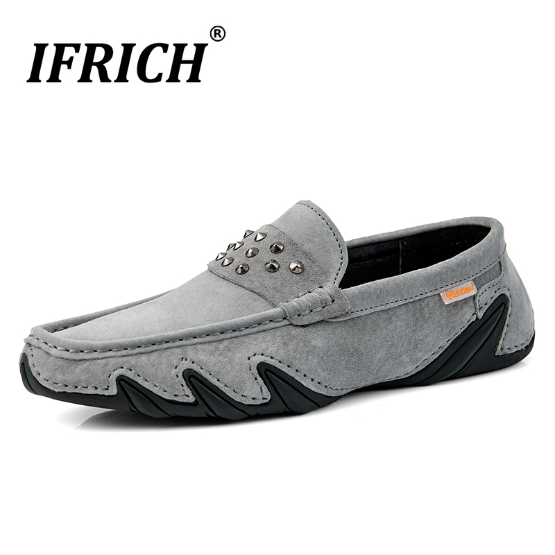 Spring/Autumn Loafers Shoes Men Genuine Leather Sneakers Men Fashion Men Loafers Studded Shoes Hand Made Driving Shoes For Mens