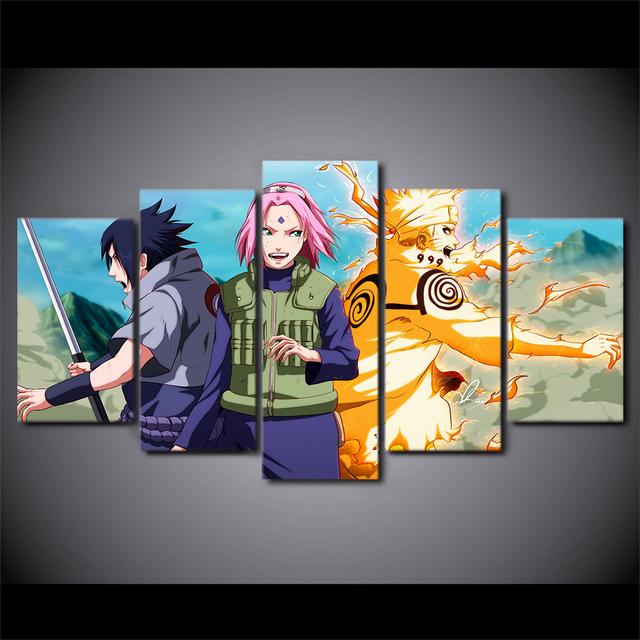 Naruto Living Room Modern Printed Painting Posters