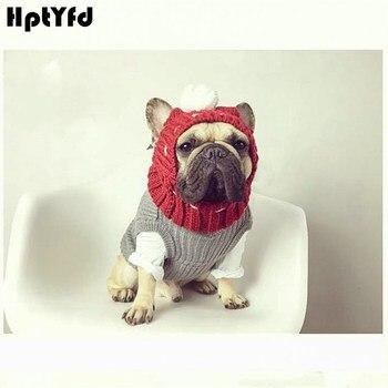 Hiver chien chaud casquettes noël beaux chapeaux Costume accessoires laine chiot chapeau avec mignon balle chapeaux pour petits chiens moyens
