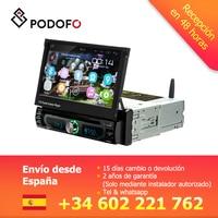 Podofo 1 din Android Car Multimedia Player Wifi Car Radio Stereo GPS Navigation Universal Car CD/DVD MP5 Player USB AM FM Radios
