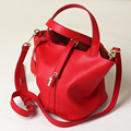 Натуральная кожа коровьей ведро мешок женская сумка твердые большой емкости водонепроницаемый сумка