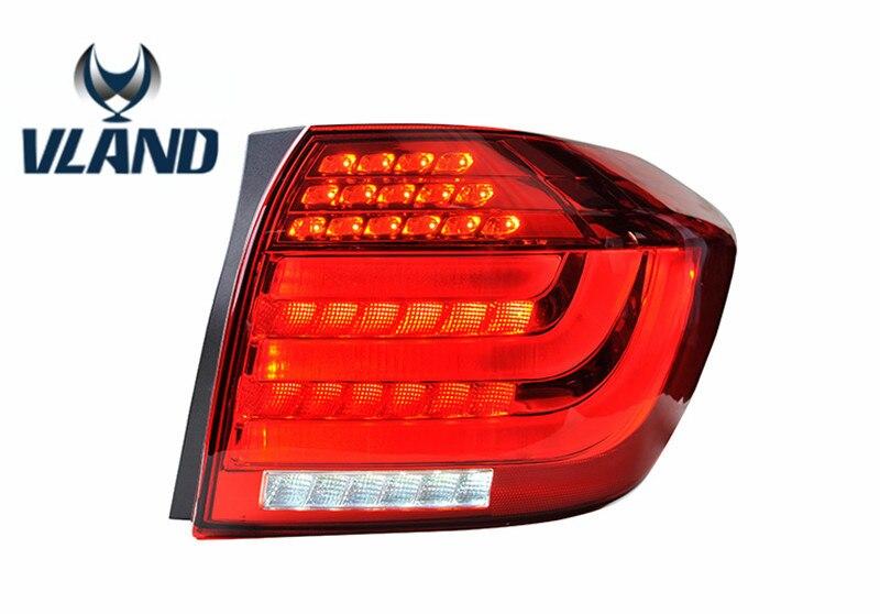 VLAND factory for Car Tail light for Highlander LED Taillight 2012 2014 Highlander back light with DRL+Reverse+Brake design автоинструменты new design autocom cdp 2014 2 3in1 led ds150