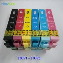 T0791 T0796 Ink Cartridge t0791 For Epson Stylus Photo P50 Px660 PX650 PX700W PX710W PX720WD PX730WD 1500 1400 1410 Printer
