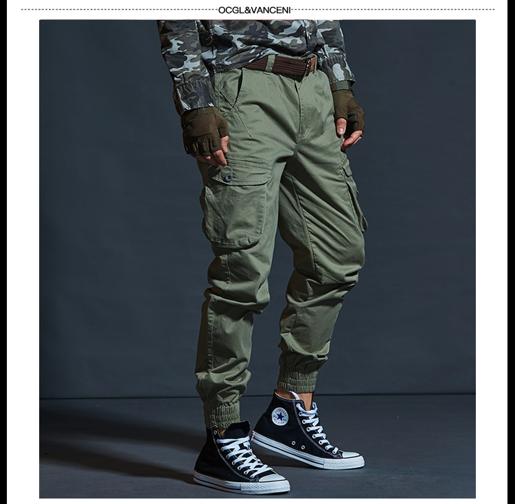 High Quality Khaki Casual Pants Men Military Tactical Joggers Camouflage Cargo Pants Multi-Pocket Fashions Black Army Trousers 76
