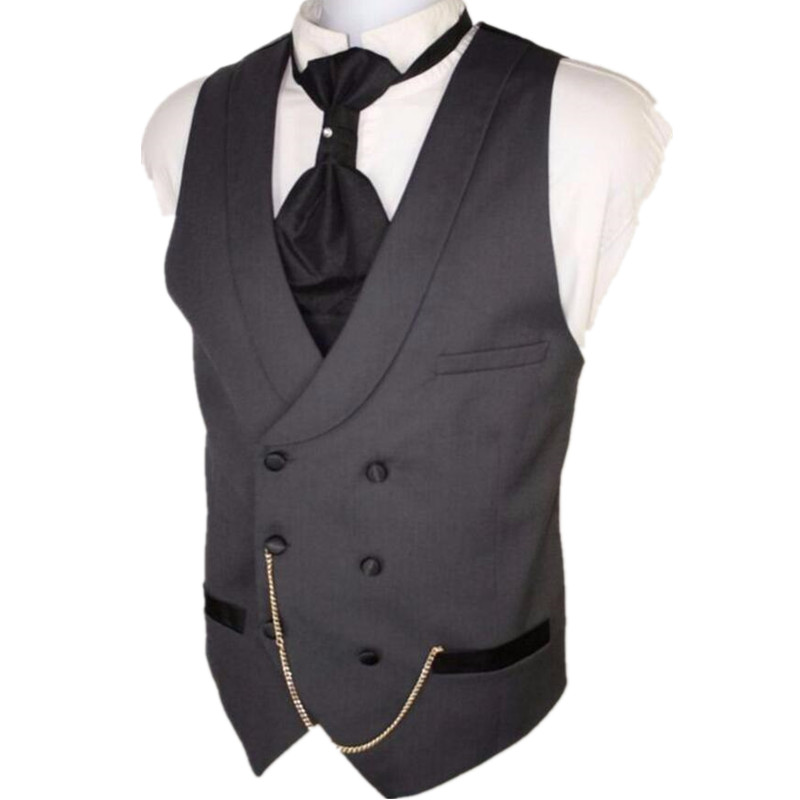 Custom Suit ma3 jia3 Made Dark Gray Men Suit Vests Slim Fit Formal Waistcoat For Man