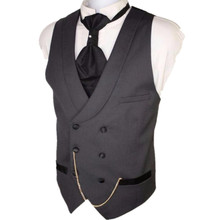 Custom Suit ma3 jia3 Made Dark Gray Men Suit Vests Slim Fit Formal Waistcoat For Man Wedding Prom Vest double-breasted