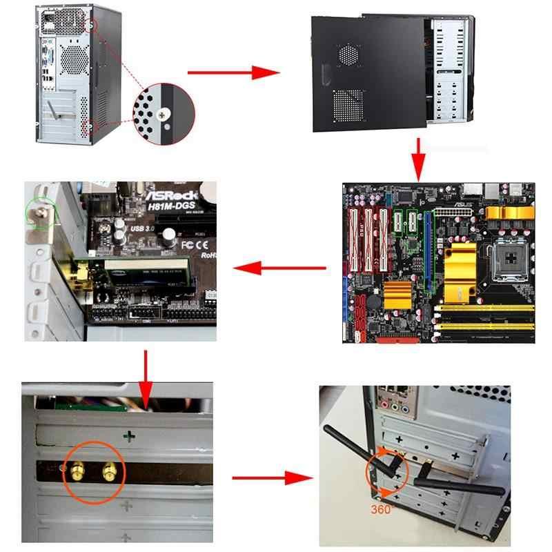 450 M de doble banda Wie5300 5 Ghz/2,4 Ghz Pci-E Tarjeta de adaptador de red inalámbrica Wifi para Pc